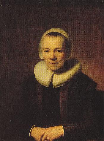 Baartjen Martens Doomer c1640 - Rembrandt Van Rijn reproduction oil painting