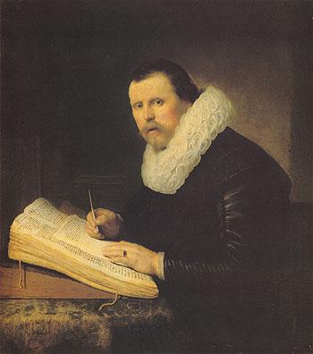 A Scholar 1631 - Rembrandt Van Rijn reproduction oil painting
