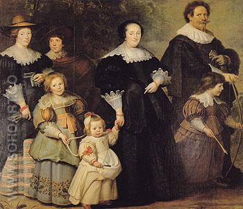 Family Portrait - Conrnelis de vos reproduction oil painting
