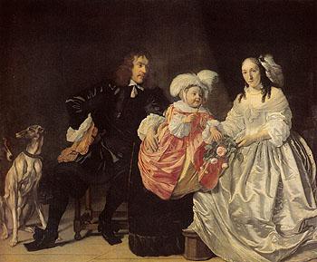Family Portrait 1652 - Bartholomeum van der Helst reproduction oil painting