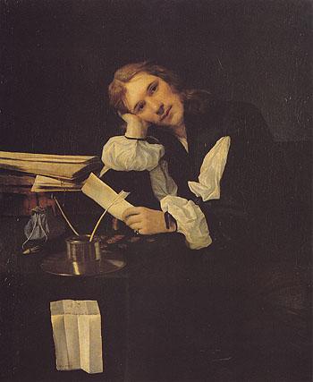 Self Portrait 1656 - Michael Sweerts reproduction oil painting