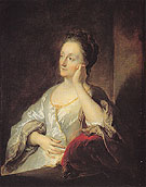 The Artists Wife Jeanne c1704 - Jean Francois de Troy