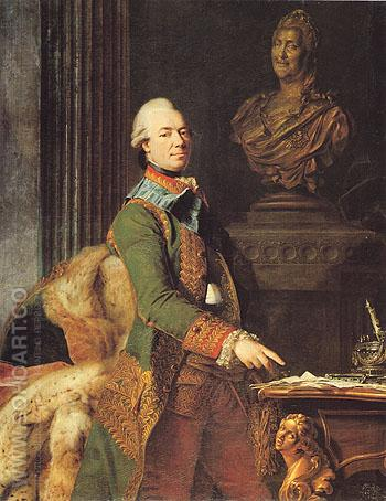 Count Z G Chernyshev c1776 - Alexander Roslin reproduction oil painting