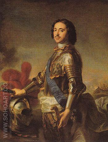 Peter I the Great 1717 - Jean Marc Nattier The Younger reproduction oil painting