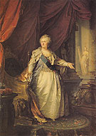 Catherine II the Great 1793 - Johann Baptist Lampi The Elder