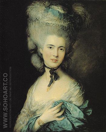 A Woman in Blue 1770 - Thomas Gainsborough reproduction oil painting
