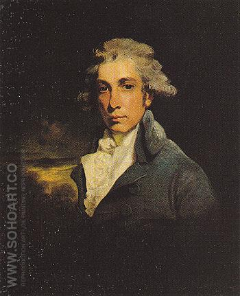Richard Brinsley Sheridan - John Hoppner reproduction oil painting