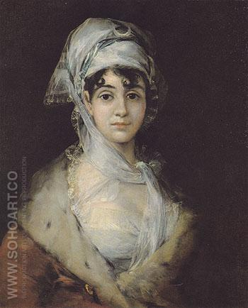 Antonia Zarate c1811 - Francisco de Goya ya Lucientes reproduction oil painting