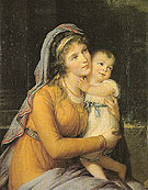 Countess A S Stroganova and Her Son 1793 - Elisabeth Vigee Le Brun reproduction oil painting
