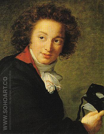 Count G I Chernyshev Holding a Mask 1793 - Elisabeth Vigee Le Brun reproduction oil painting