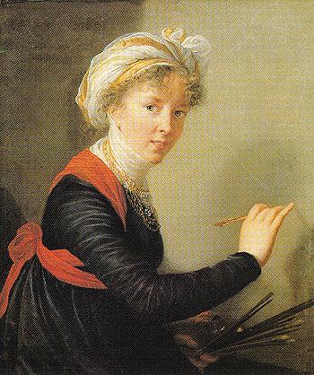 Self Portrait 1800 - Elisabeth Vigee Le Brun reproduction oil painting