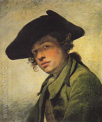 A Young Man in a Hat 1750 - Jean Baptiste Greuze reproduction oil painting