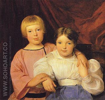 Children 1834 - Ferdinand Georg Waldmuller reproduction oil painting