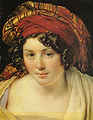 A Woman in a Turban - Anne-Louis Girodet de Roucy-Trioson reproduction oil painting