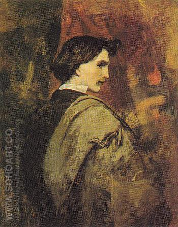 Self Portrait - Anselm Feuerbach reproduction oil painting