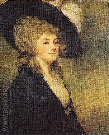 Mrs Harriet Greer 1781 - George Romney reproduction oil painting