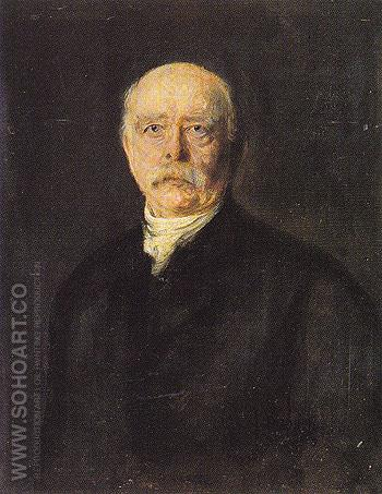 Prince Otto von Bismarck - Franz von Lenbach reproduction oil painting