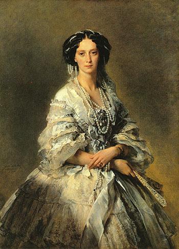 Empress Maria Aleksandrovna 1857 - Franz Xa ver Winterhalter reproduction oil painting