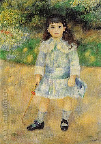 Child with a Whip 1885 - Pierre Auguste Renoir reproduction oil painting