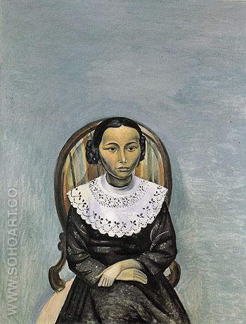 Portrait of a Young Girl in Black 1914 - Andre Derain reproduction oil painting
