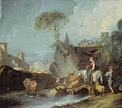Bridge Crossing - Francois Boucher