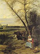 A Shepherdess 1666 - Jan Siberechts reproduction oil painting