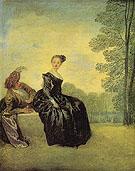 A Capricious Woman c1718 - Jean Antoine Watteau