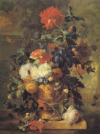 Flowers 1722 - Jan Van Huysum reproduction oil painting