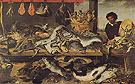 Fish Stall - Frans Snyders reproduction oil painting