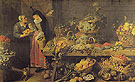 Fruit Stall - Frans Snyders reproduction oil painting