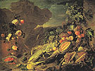 Fruit and Flowers in a Vase 1655 - Jan Davidsz de Heem