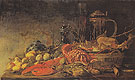 Fruit and Lobster on a Table 1640 - Frans Ryckhals