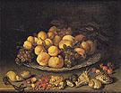 Fruit on a Plate and Shells 1630 - Balthasar van der Ast