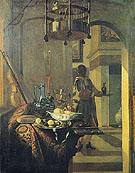 Black Servant and a Laid Table 1686 - Hendrik van Streek