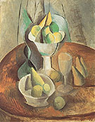 Compotier Fruit and Glass 1909 - Pablo Picasso