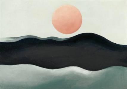 Sunset Long Island 1939 - Georgia O'Keeffe reproduction oil painting