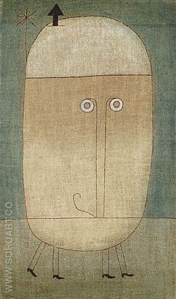 Mask of Fear - Paul Klee reproduction oil painting