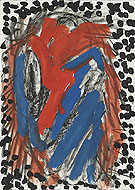 Bla Bla 1974 - A R Penck reproduction oil painting