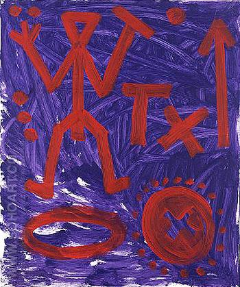 Das Jahr 89 Standard 1991 - A R Penck reproduction oil painting