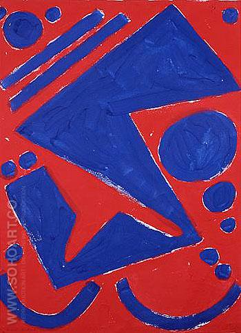 Deitscj Amds Einheit Abtract 1986 - A R Penck reproduction oil painting