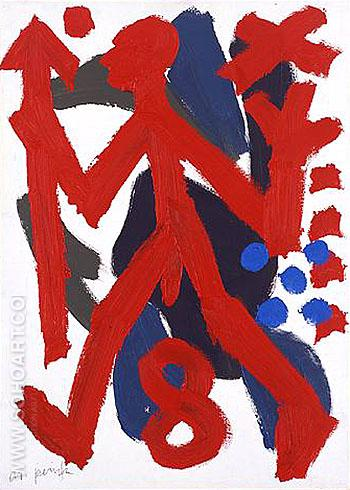 Guerrieri Politici 1990 - A R Penck reproduction oil painting
