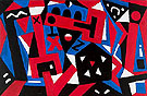 Larm Des Tages - A R Penck reproduction oil painting