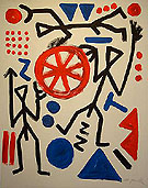 Raumstation 1991 - A R Penck reproduction oil painting