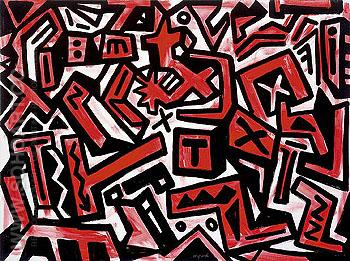 Rock Emotion - A R Penck reproduction oil painting