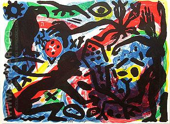 Situation now California 1992 - A R Penck reproduction oil painting