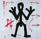 Standard 1970 - A R Penck reproduction oil painting