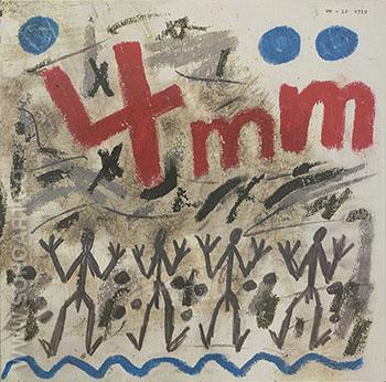 The History of the 4 1983 - A R Penck reproduction oil painting