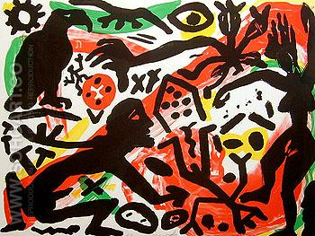 The Situation - A R Penck reproduction oil painting