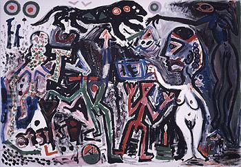Tskrie Vi 1984 - A R Penck reproduction oil painting