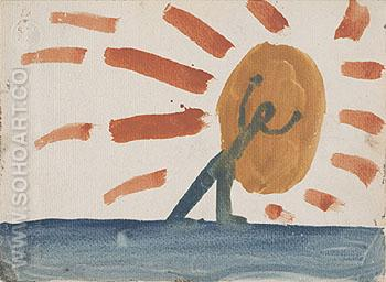 Untitled 1967 - A R Penck reproduction oil painting